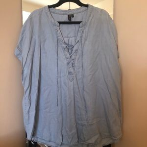 Nordstrom Rack Chambray Blouse